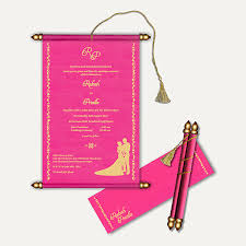 indian wedding scroll invitations wedding cards kmcchain info