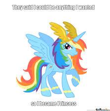 Rainbow Dash Meme - princess rainbow dash by blaster522 meme center