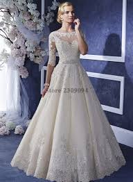 empire mariage 2017 new scalloped royal bridal dresses with zipper back