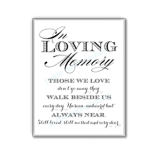 in memory of wedding program in loving memory wedding sign memorial table by purplepeonycouture