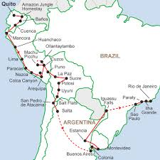 The Map Of South America by The South America Journey 65 Days 7 Countries 1 Adventure