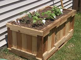 wooden outdoor benches garden planters made of pallets planter