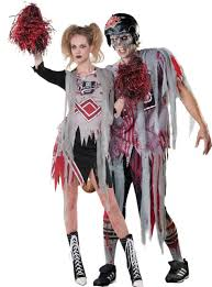 Cheerleader Halloween Costume Girls Zombie Couples Costumes Zombie Cheerleader Costume 39 99