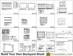 12x16 studio shed plans end door