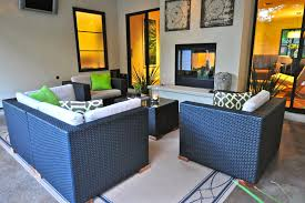 Sided Outdoor Fireplace - double sided fireplace indoor outdoor bedroom contemporary with