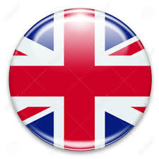 Beitish Flag British Flag Button Isolated On White Stock Photo Picture And