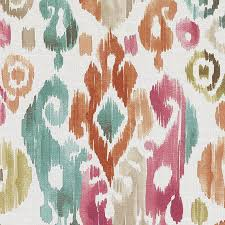 Pink And Orange Curtains Pink Orange Upholstery Drapery Fabric Modern Large Scale