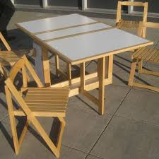 Folding Table With Chairs Stored Inside Unique Wood Folding Table And Chairs Surripui Net
