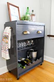 small bar cart we put it in a corner of the dining room which we