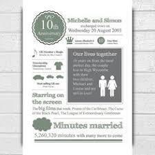 tenth anniversary ideas 15 wedding anniversary gift ideas for or