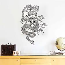 compare prices on chinese dragon stickers online shopping buy low free shipping oriental chinese style dragon wall stickers vinyl decal waterproof art wall murals home decor