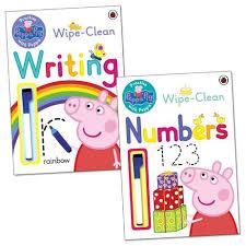 peppa pig practise peppa wipe clean learning pack