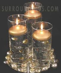 silver centerpieces silver and gold floating candles