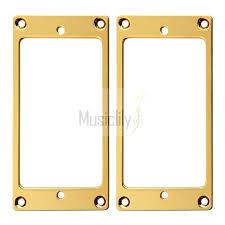 mounting rings images 2pcs gold metal flat profile humbucker guitar pickup frame jpg