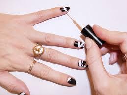 an easy step by step halloween nail art tutorial coveteur