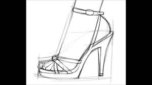 how to draw a high heel youtube