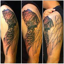 philippines eagle tattoo first 3 hour session of my crowned eagle by warren petersen at