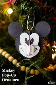 mickey pop up ornament disney family