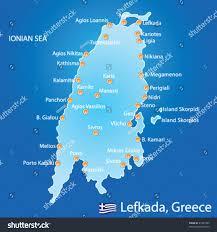 Greece On Map by Island Lefkada Greece Map On Blue Stock Vector 91241582 Shutterstock