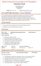 cv uk environmental consultant cv template tips and cv plaza