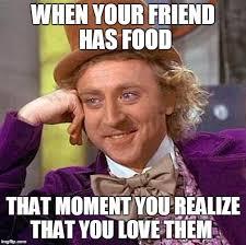 Food St Memes - creepy condescending wonka meme imgflip