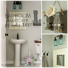 Bathroom Cheap Makeover Mini Budget Bathroom Makeover Diy Beautify