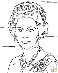 queen elizabeth by andy warhol coloring page free printable