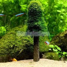 simulation moss tree plant grow ornament aquarium fish tank