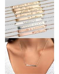 mothers necklace with names spectacular deal on bar necklace personalized custom name gold