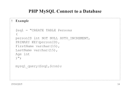 sql create table primary key autoincrement 15 10 20151 php mysql slide materials are based on w3schools php