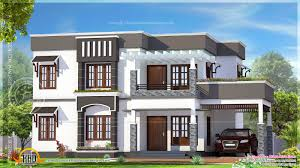 Home Exterior Design Kerala by House Plan 4 Bhk Flat Roof House Exterior Kerala Home Design And