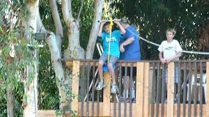 backyard zip line from treehouse youtube