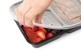 amazon com food containers 3 compartment bento box storage with