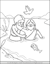cool jesus baptism coloring page design pages for children