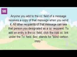How Does Blind Carbon Copy Work What Is Cc And Bcc Stands For Youtube