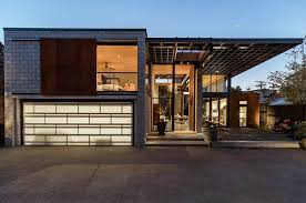 industrial style house height living spaces add drama to this industrial style house