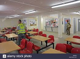 Interior Of A Kitchen Interior Of A Temporary Workers Canteen On A Large Building Site