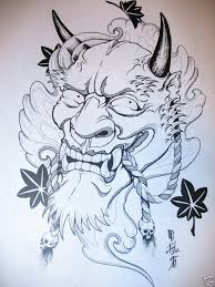 kabuki mask tattoo design photo 1 photo pictures and sketches