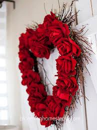 heart wreath faux wreath tutorial glue wood chip or silk roses to heart