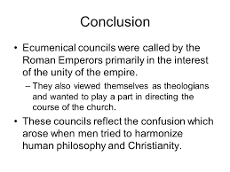 Ecumenical Councils Of The Catholic Church Definition The Ecumenical Councils Ppt