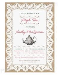 free afternoon tea invitation template template