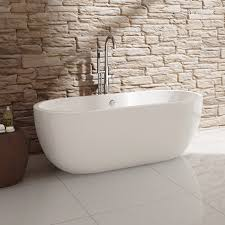 white bathroom acrylic modern freestanding roll top bath tub br263