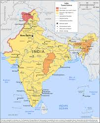 India Map With States by Smartraveller Gov Au India