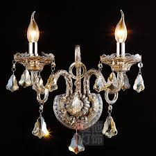 Chandelier Candle Wall Sconce Color K9 Crystal Glass Candle Wall Sconces