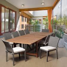 amazonia berry 11 piece eucalyptus extendable rectangular patio