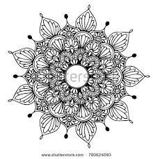 mandalas coloring book decorative ornaments stock vector