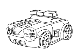 police bot coloring pages for kids printable free rescue bots