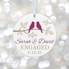 birds personalized engaged ornament personalized gift market