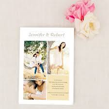 wedding announcement cards and happiness three picture photo wedding announcements