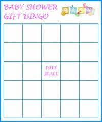 baby shower gift bingo baby shower bingo printable guests fill out the blank squares